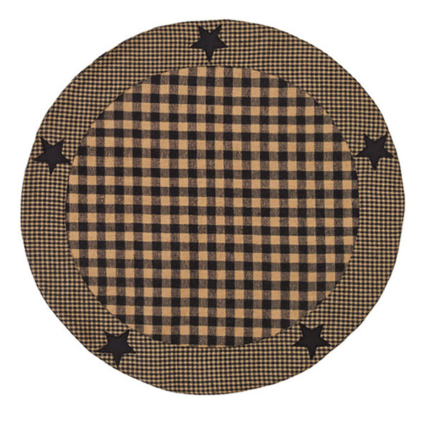 Applique Star Black Tablemat, by Nancy's Nook for Victorian Heart