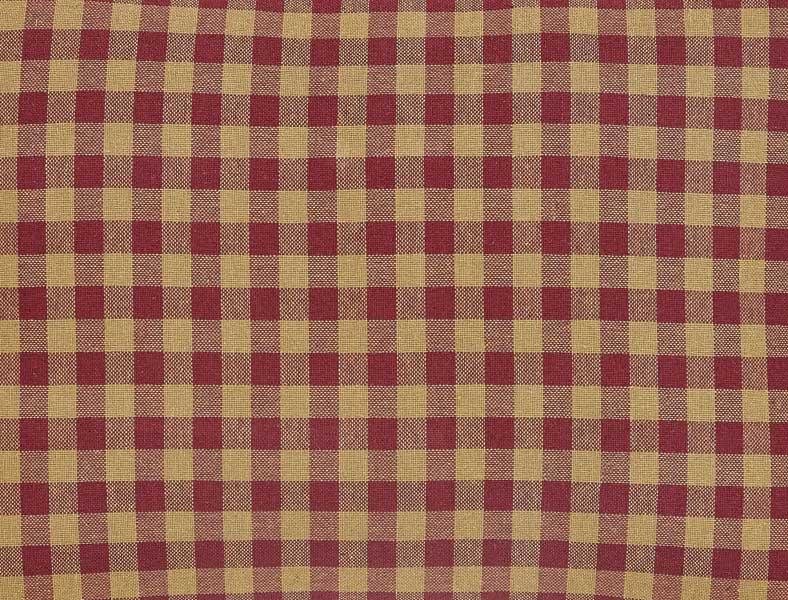 Burgundy checked fabric