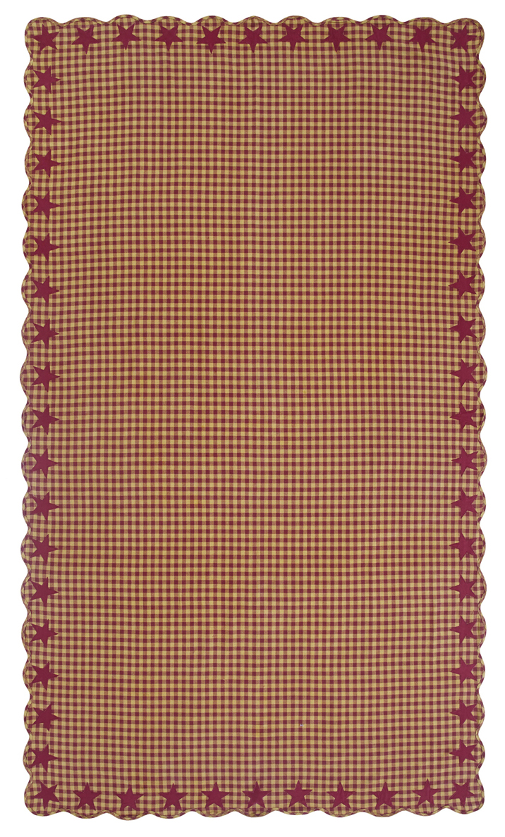 Burgundy Star 60 x 102 inch Tablecloth, by Nancy's Nook ...