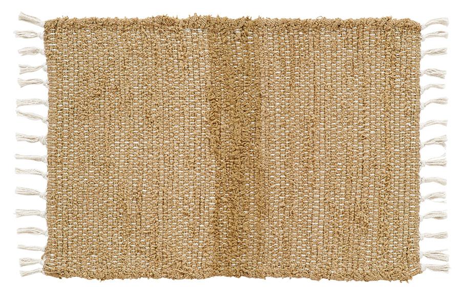 Burlap Natural Chindi Rag Rug, by Victorian Heart.