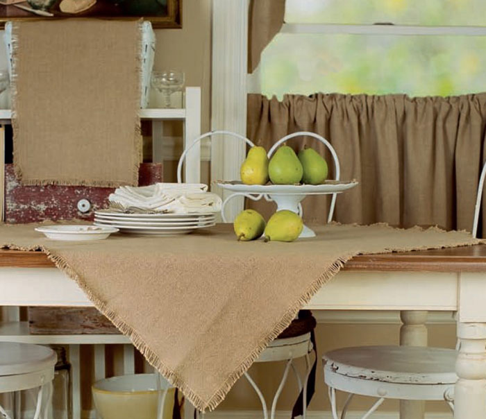 Burlap Natural Tabletopper, by Victorian Heart