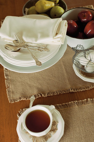 Burlap Placemats, by Victorian Heart