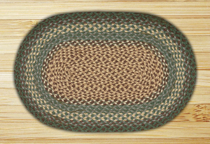 27 x 45 inch Dark Green Oval Jute Rug, by Capitol Earth Rugs.
