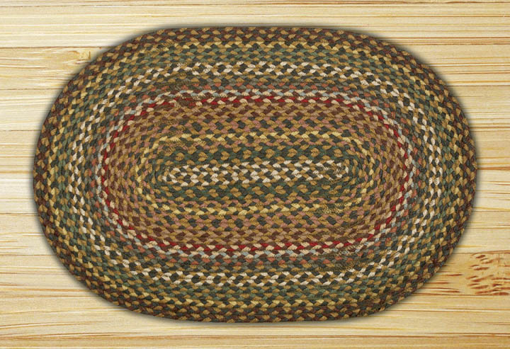 27 x 45 inch Fir / Ivory Oval Jute Rug, by Capitol Earth Rugs.