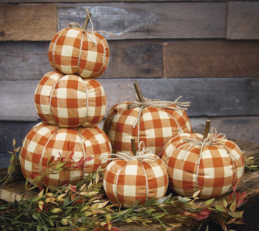 Orange Buffalo Check Pumpkins