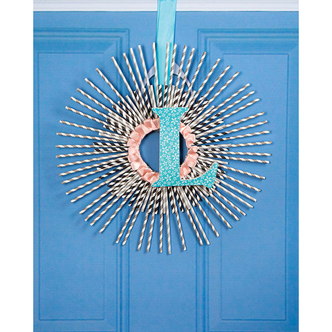 Use paper straws in wreath making or other craft projects!