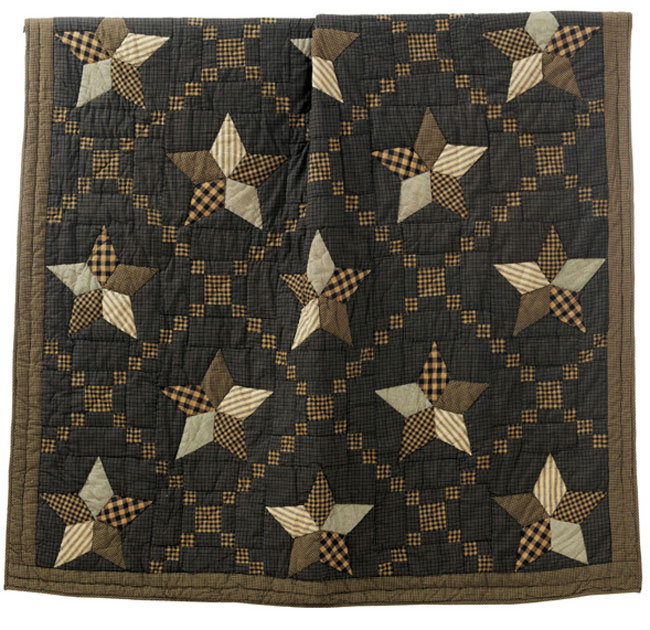 Farmhouse Star Quilted Throw, by Victorian Heart