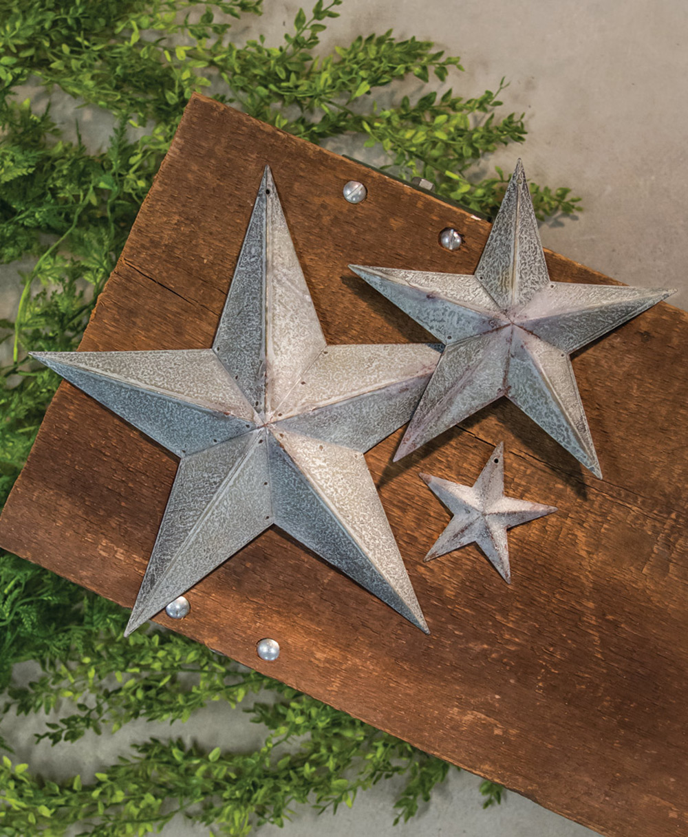 Galvanized Metal Barn Stars
