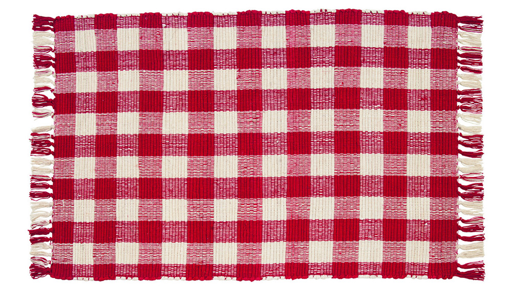 Picnic Red Check Woven Rug By Olivias