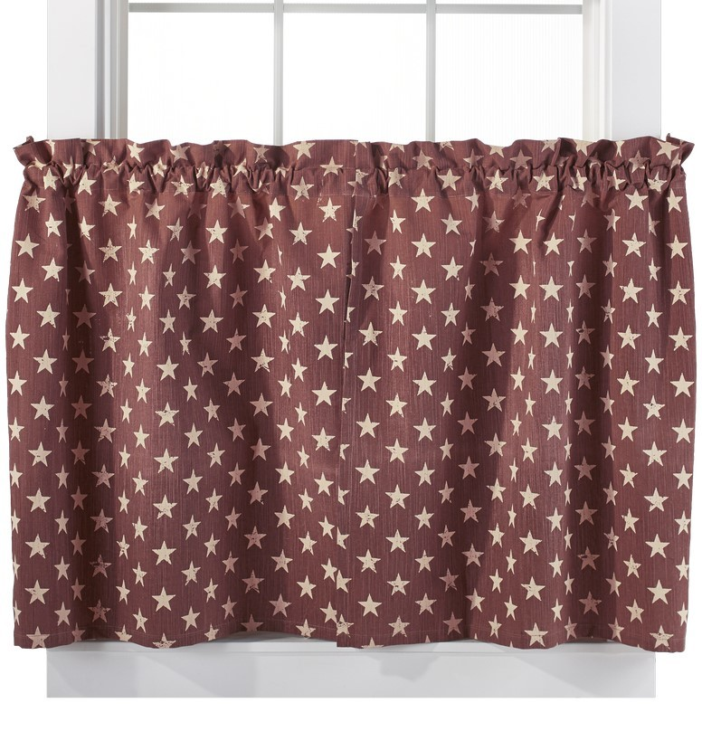 Stargazer Pino 24 Inch Cafe Curtains
