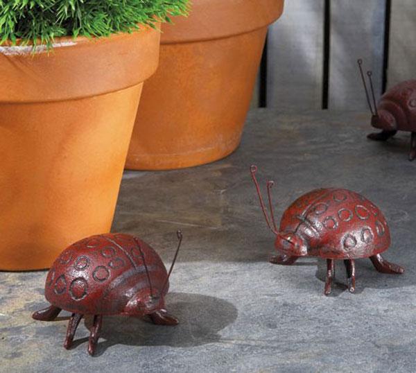 Cast Iron Ladybug Figurine
