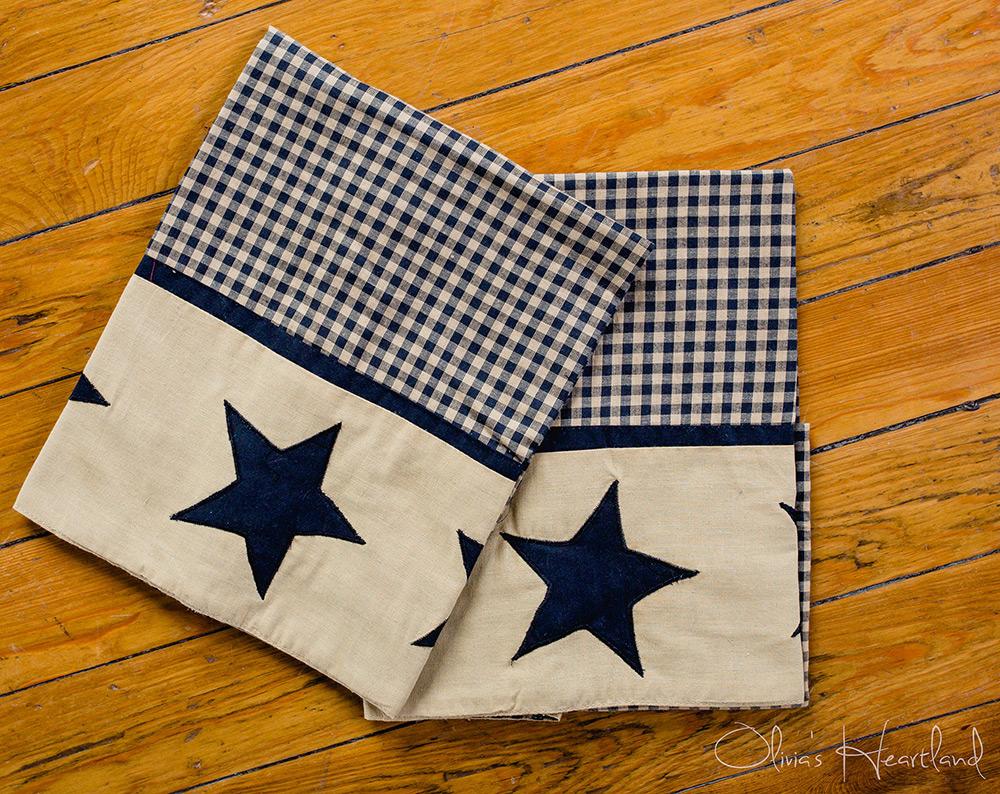Jamestown Black & Tan Pillow Cases, by Olivia's Heartland