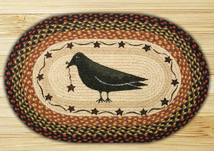 Crow and Star Braided Jute Rug, by Capitol Earth Rugs