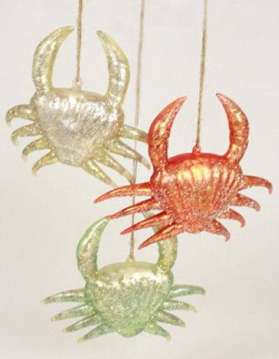 Icy Wharf Crab Ornament, by Cody Foster