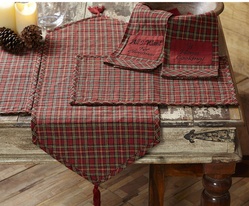 Tartan Holiday Placemats, by Nancy's Nook