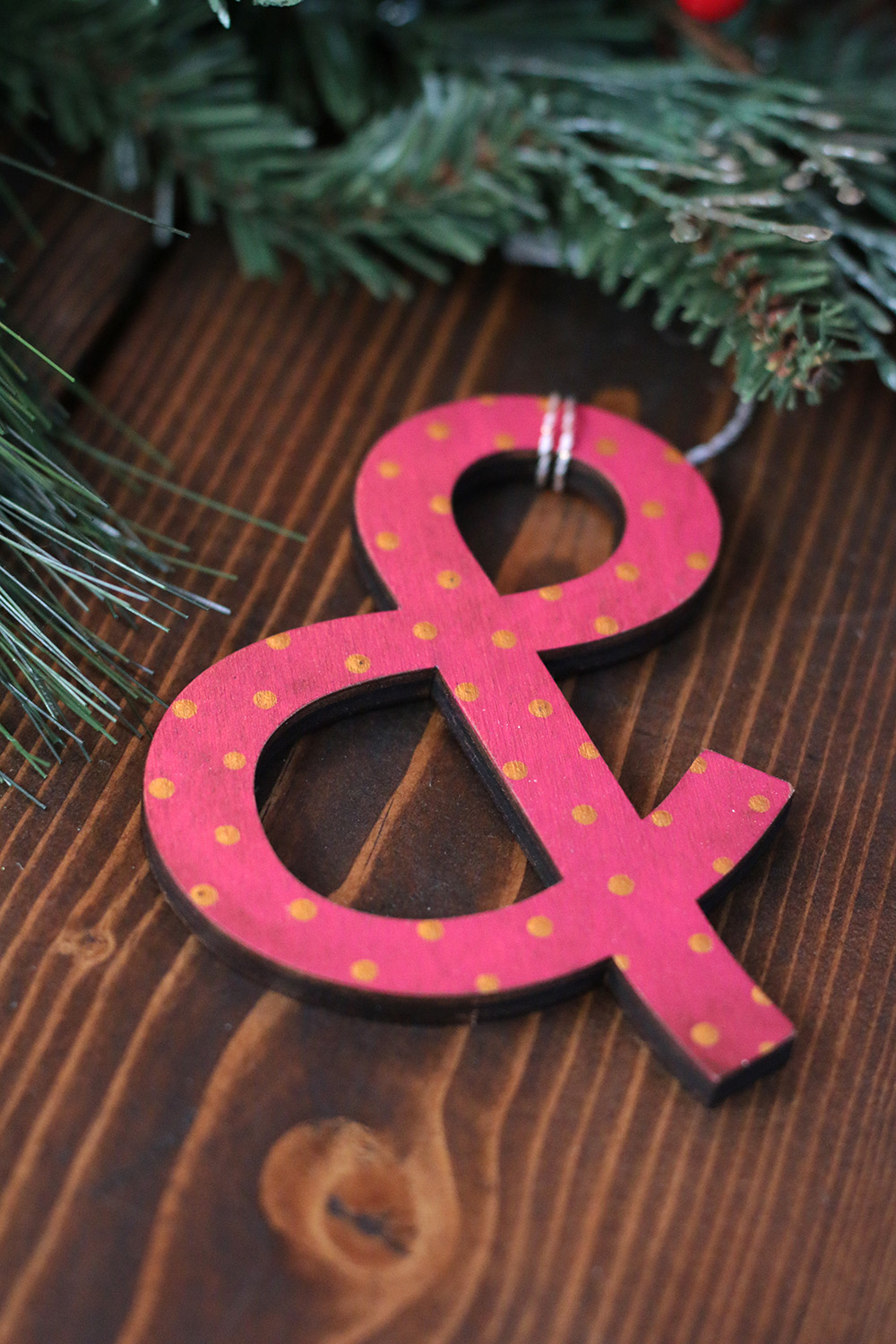 Ampersand Ornament, handmade by Our Backyard Studio - The Weed Patch