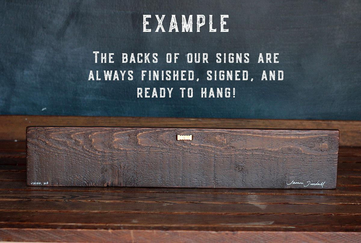 Back of Sign