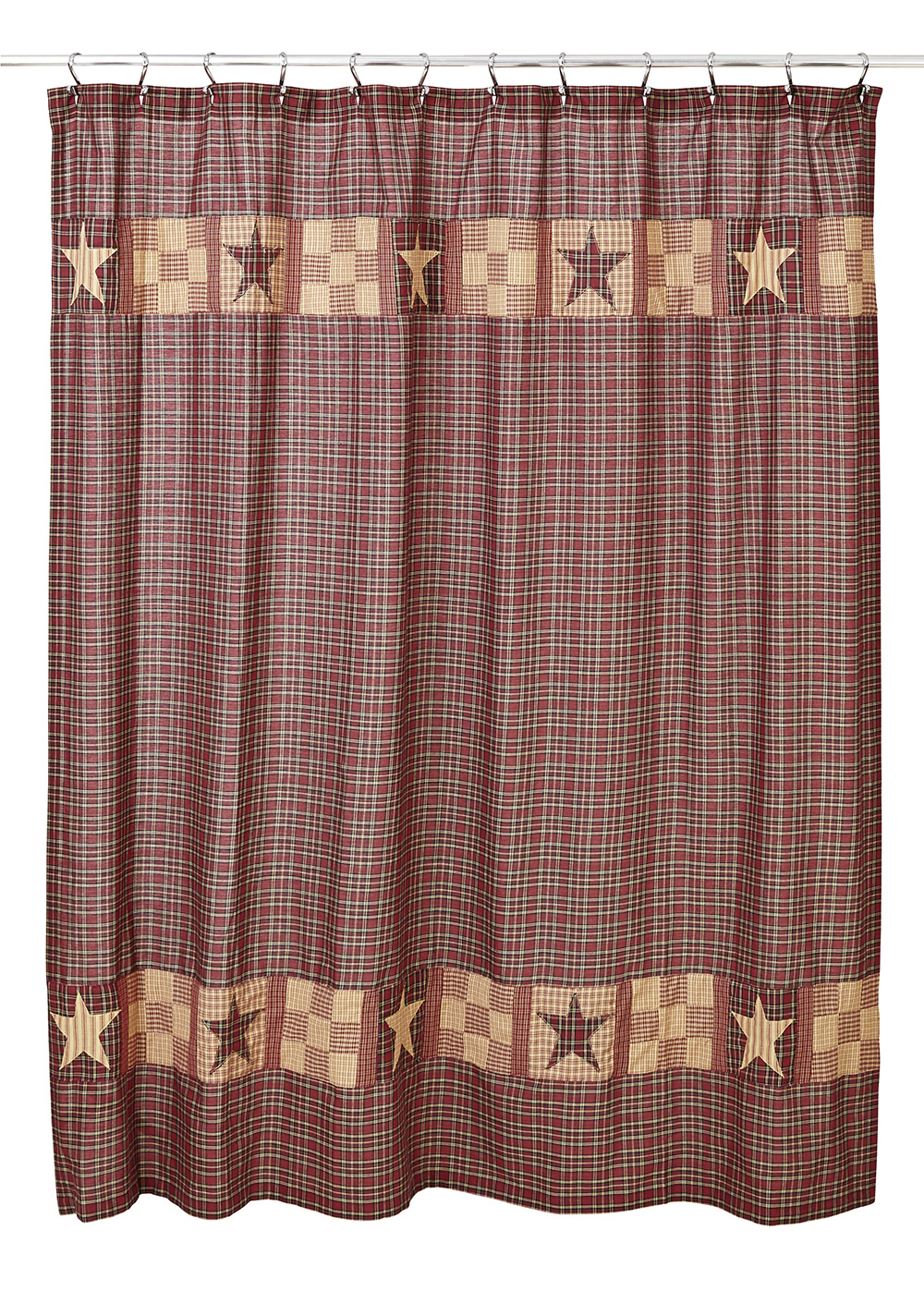 Bradford Star Shower Curtain, by Olivia\'s Heartland - The Weed Patch