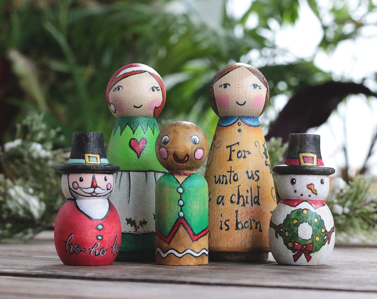 Christmas Folk Art Dolls