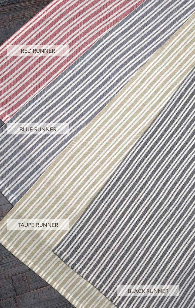Classic Stripe Taupe 72 Inch Table Runner Classic Stripe Collection ...