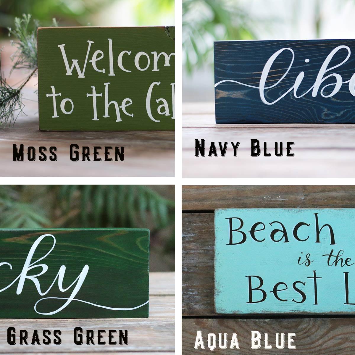Colors - Moss, Grass Green, Navy, Aqua