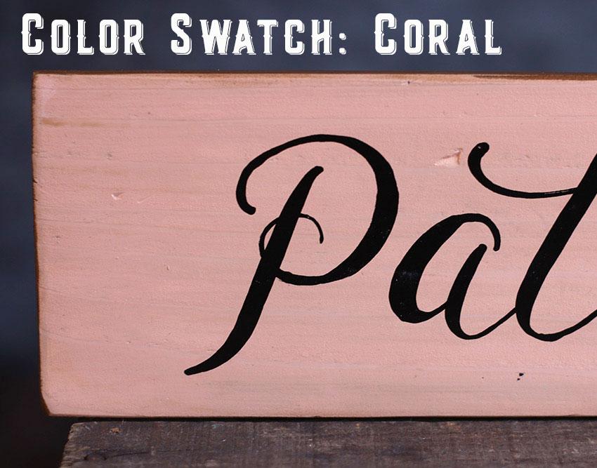 Color Swatch - Coral