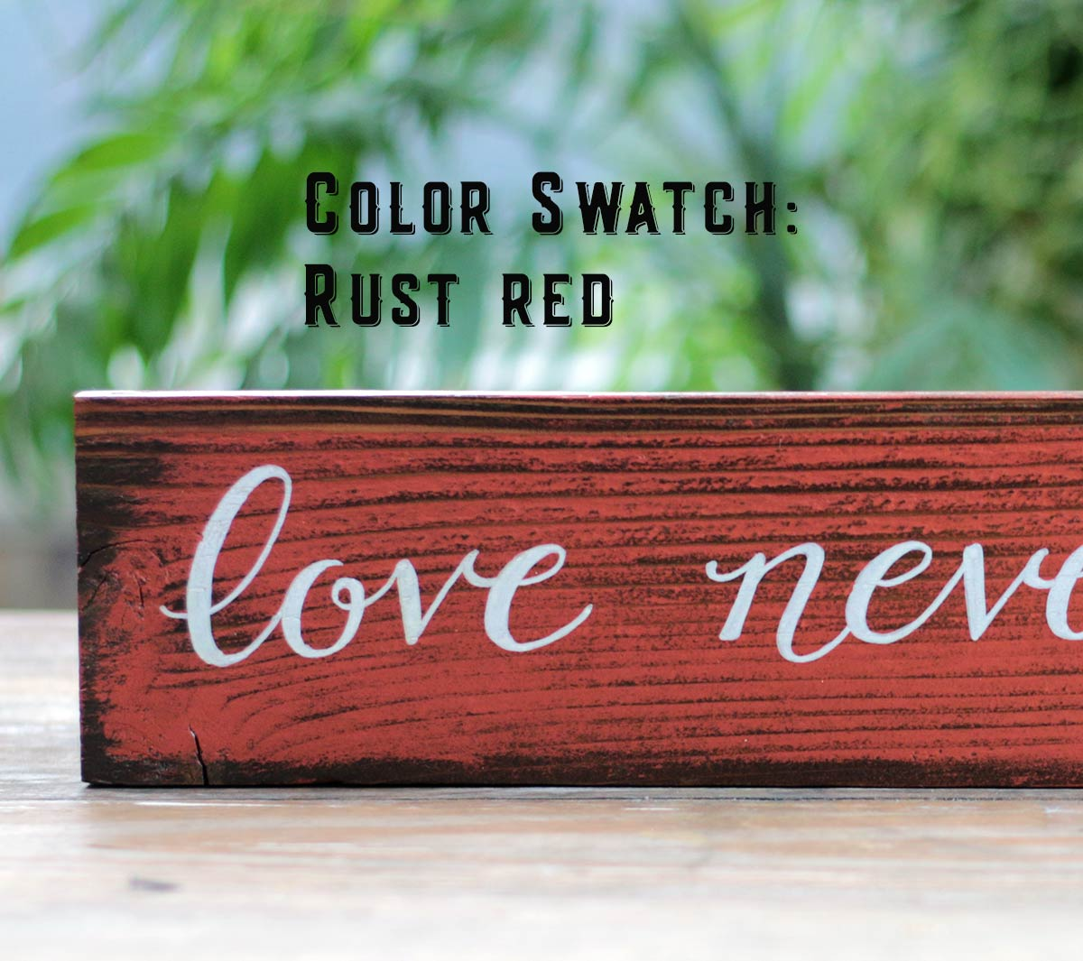 Color Swatch - Rust Red