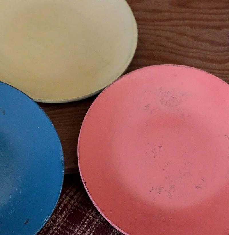 Distressed Decorative Plates