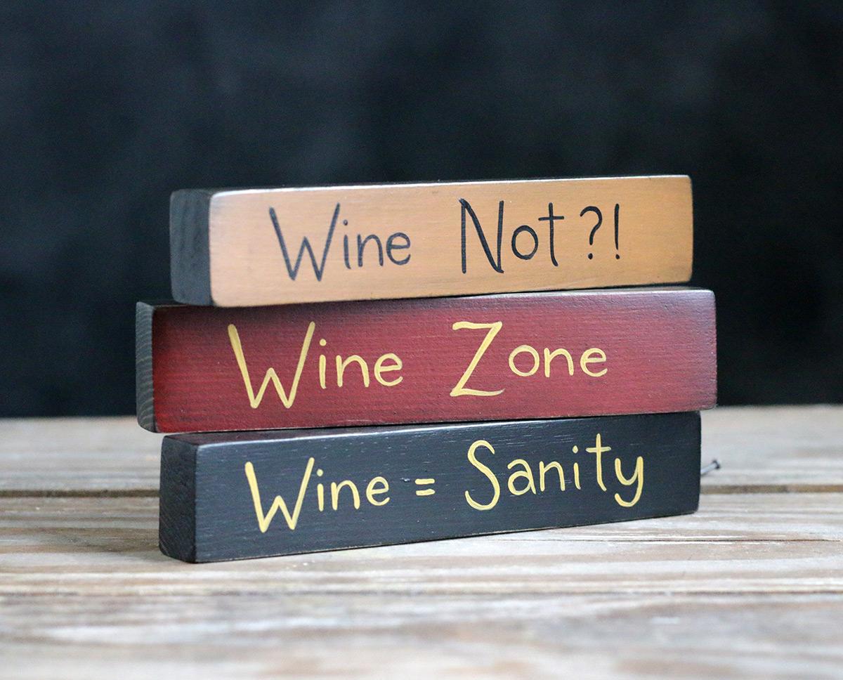 Wine Zone Shelf Sitter Sign