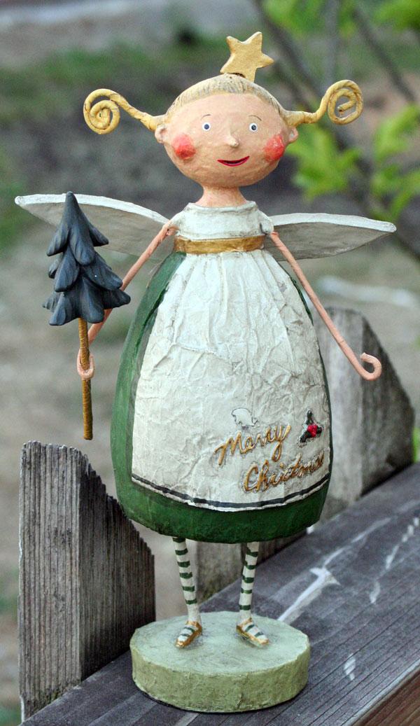Green Evergreen Angel, by Lori Mitchell