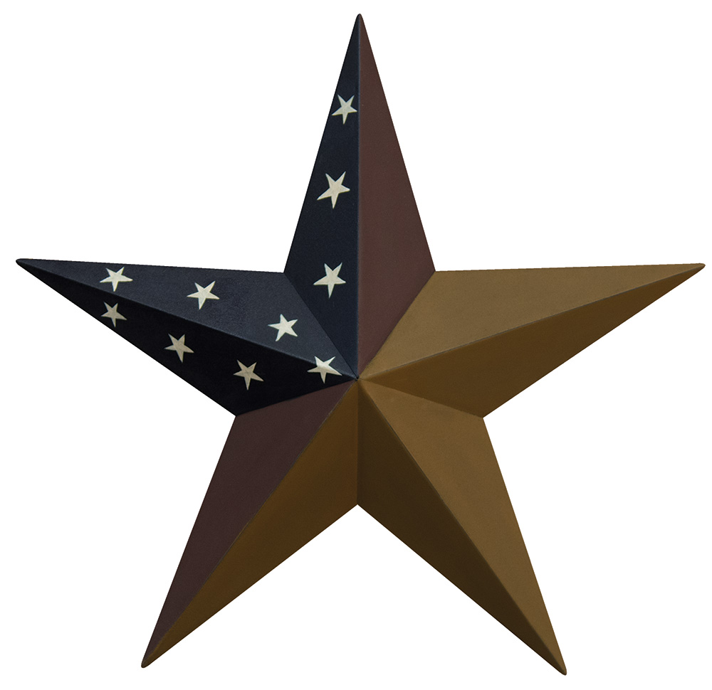 24 inch Aged Patriotic Barn Star, by The Hearthside Collection.
