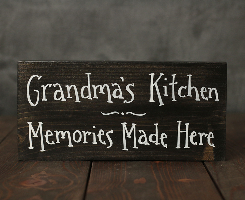 Grandma S Kitchen Hand Lettered Sign Hand Painted In Mill Creek Wa The Weed Patch