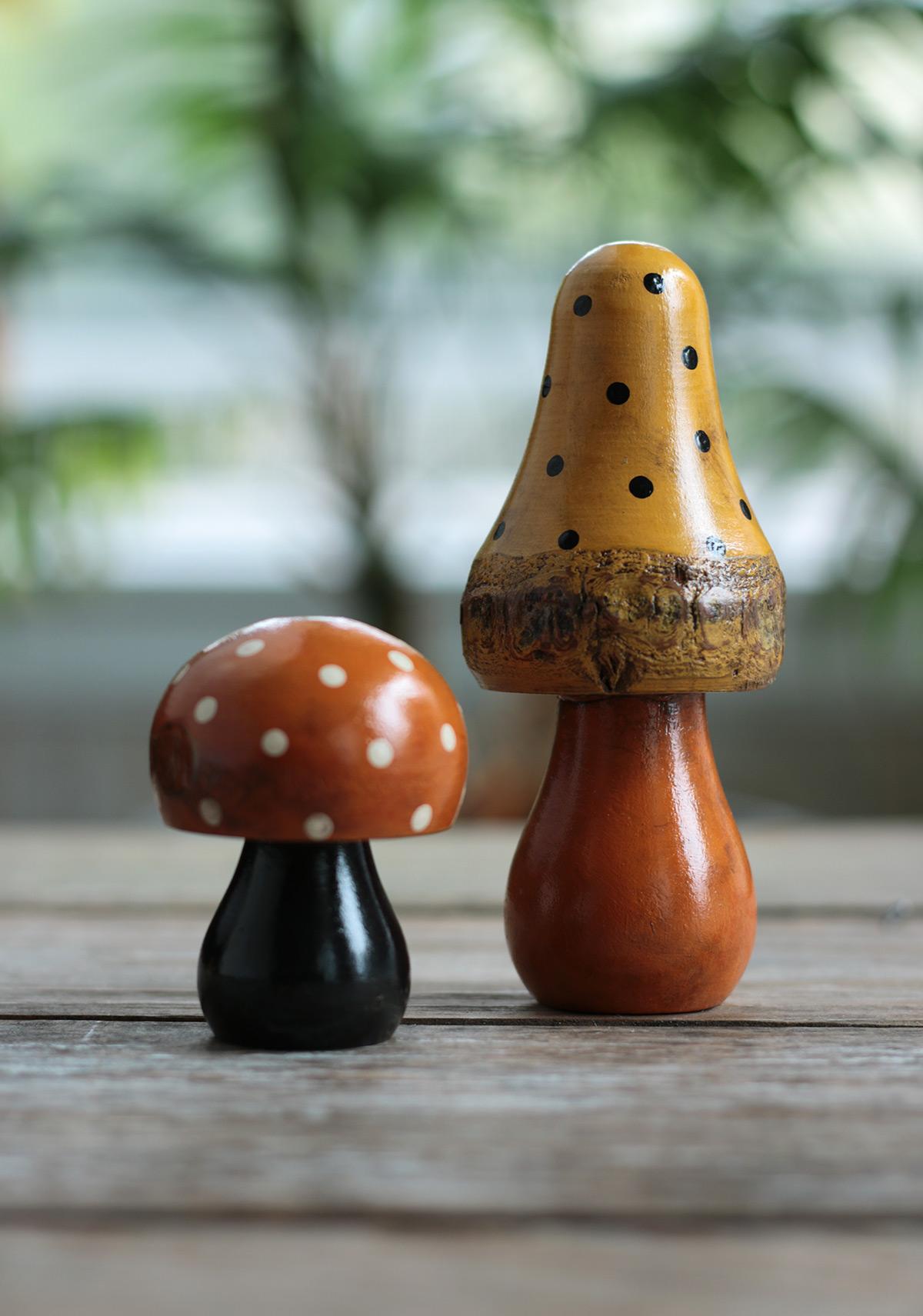 Halloween Mushroom Figurine