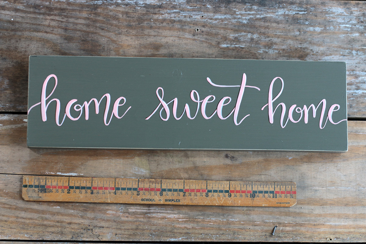 Home Sweet Home Sign - The Weed Patch