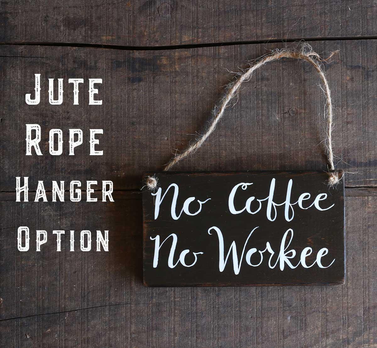 Jute Rope hanger Example