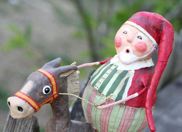 Muletide Santa, by Lori Mitchell