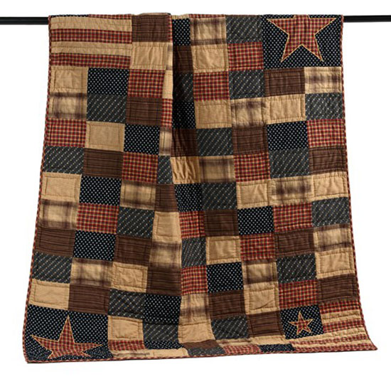 Patriotic Patch Quilted Throw, by Victorian Heart