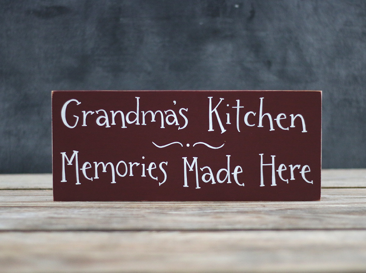 Grandma S Kitchen Wood Sign The Weed Patch