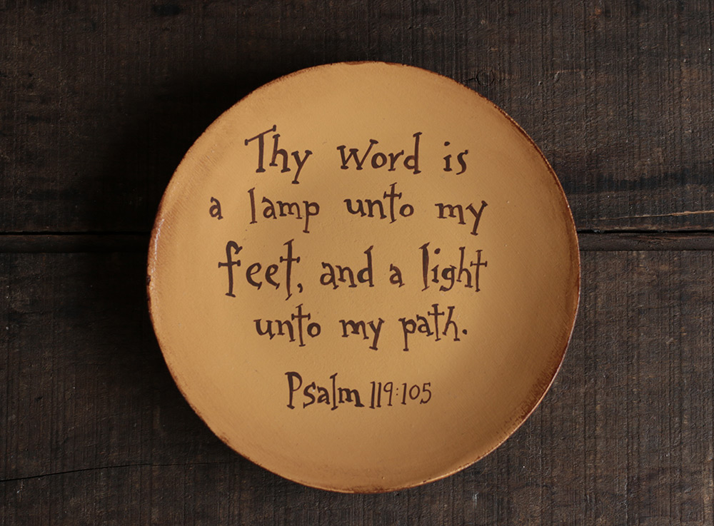 Thy Word Is A Lamp Unto My Feet Plate The Weed Patch