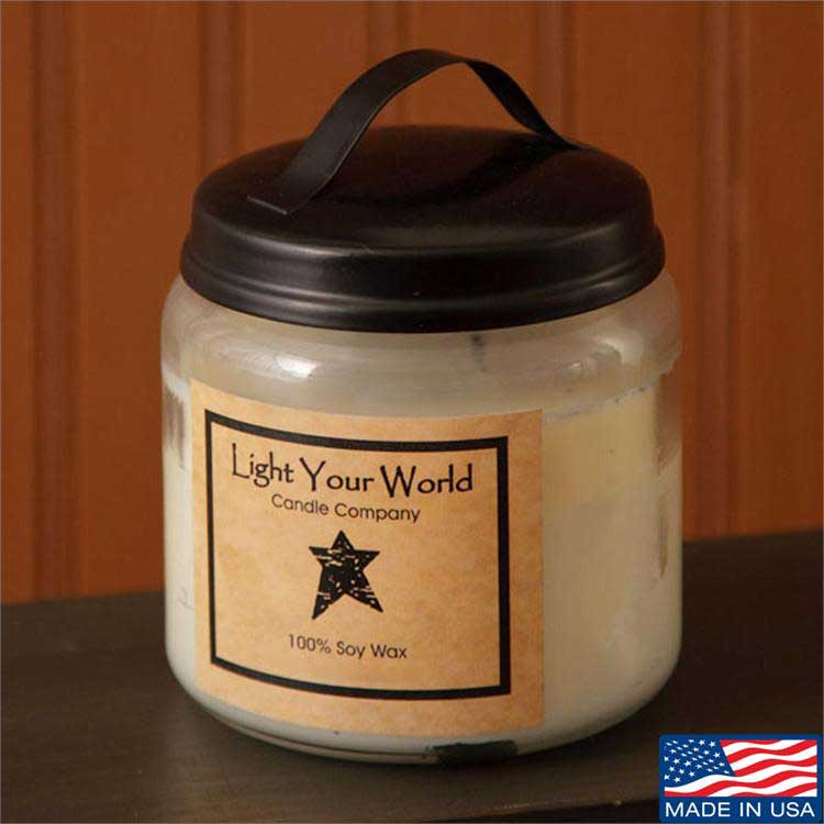 16 ounce Jar Soy Candle, by Light your World