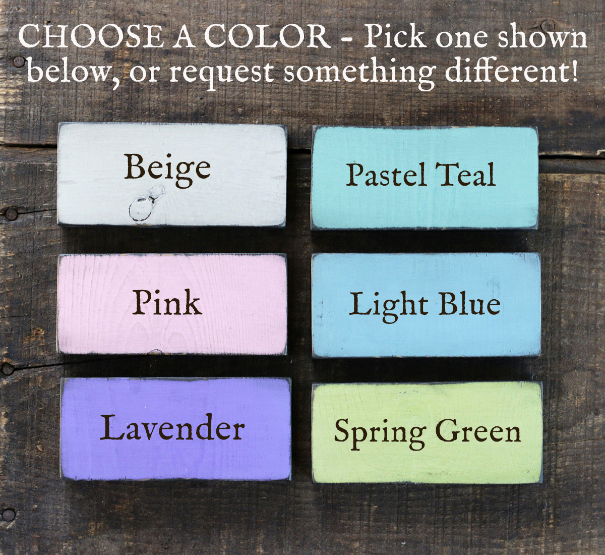 More color options