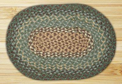Dark Green Braided Tablemat (10 x 15 inch)
