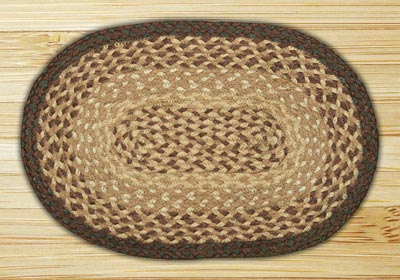 Chocolate and Natural Braided Tablemat