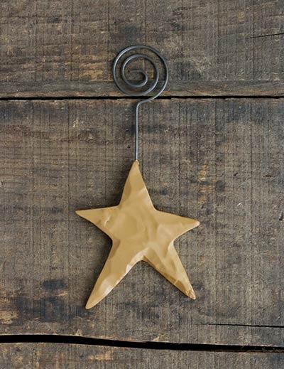 Antique Gold Star Ornament