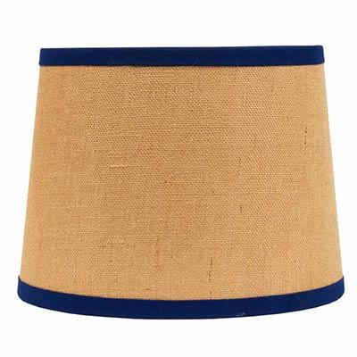 16 inch burlap with cobalt trim tapered drum lamp shade from home burlap with cobalt trim tapered drum lamp shade 16 inch aloadofball Choice Image