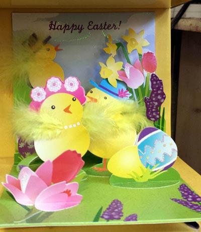 Garden Chicks Pop-up Card