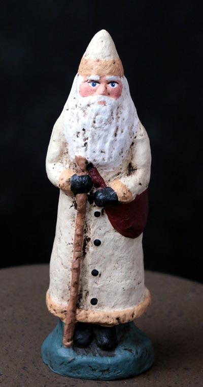 Santa with White Coat