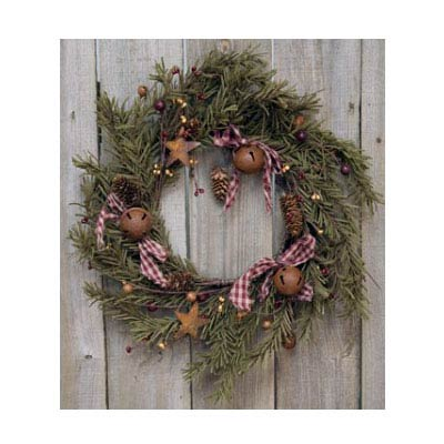 Primitive Holiday Pine 12 inch Wreath