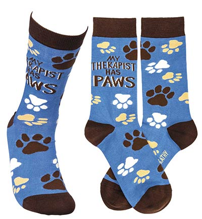 My Therapist Has Paws Socks