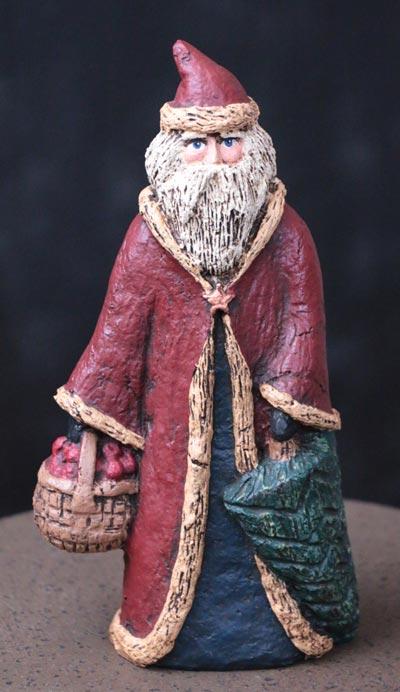 Santa with Apple Basket
